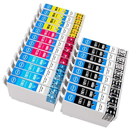 ESMOnline 20 Epson komp. Druckerpatronen zu Expression Home XP 30 201 202 215 225 302 305 315 325 402 405 415 422 425 8 Schwarz 4 Blau 4 Rot 4 Gelb