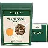 Té Verde Hojas Tulsi, Deliciosa mezcla detox de Té Verde mezclada con Hojas Frescas de albahaca, PODEROSOS ANTIOXIDANTES, Té Tulsi 100% Natural, Hojas Sueltas,200gm