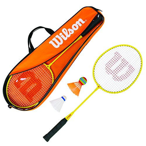 Wilson Junior Kit Set Incluye 2 Raquetas de bádminton, 2 Vo