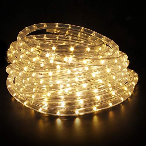LED Lichtschlauch,led schlauch, Lichterkette Licht Leiste 36LEDs/M Schlauch für Innen und Außen IP65 8M Warmweiß