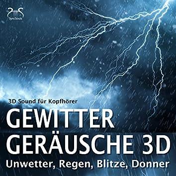 Gewitter Geräusche 3D, Unwetter, Regen, Blitze, Donner - 3D Sound für Kopfhörer