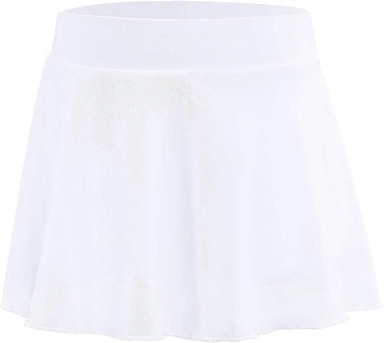 Girls Kids Dance Skirt Pull On Ballet Latin Skort with Cotton Boy Shorts
