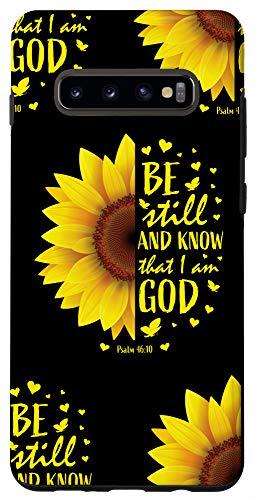 Galaxy S10+ Sunflower Phone Cases Cute Christian Bible Verse Gifts Women Case