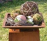 Rostikal | eckige Rost Metall Pflanzschale auf Kugeln | beflanzbare Dekoschale eckig für Ihre Garten Dekoration im Edelrost Design | 40 x 40 cm