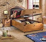 Cilek Black Pirate Bett mit Bettkasten, 100x200 cm Matratze ohne Matratze
