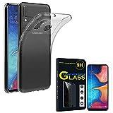 ANNART Coque pour Samsung Galaxy A20E 5.8' SM-A202F, Coque Silicone Gel Souple Ultra Fine + 1 Film...