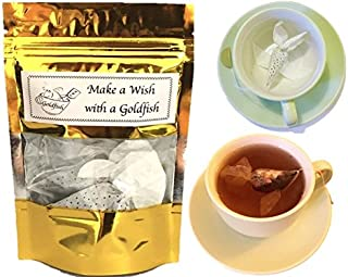 Gift idea for Tea Lover 3 Goldfish tea bags EARL GREY & ROSE tea Creative Birthday gift for tea lover Good Luck gifts Tea gift set Novelty gifts Make a Wish gift