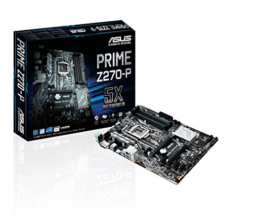ASUS PRIME Z270-P Scheda Madre, Socket 1151, DDR4 3866 MHz, Dual M.2, HDMI, USB 3.0