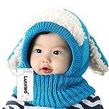 Bonnet Bébé, Bonnet Echarpe Set, Bonnet hiver pour Bébé, Bébé Unisex Bonnet Chapeau Tricoté, chapeaux tricoté...
