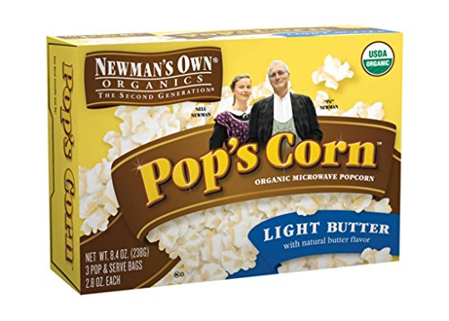 Purchase Newman's Own Pop's Corn, Light Butter, 3 Bags (Pack of 6)