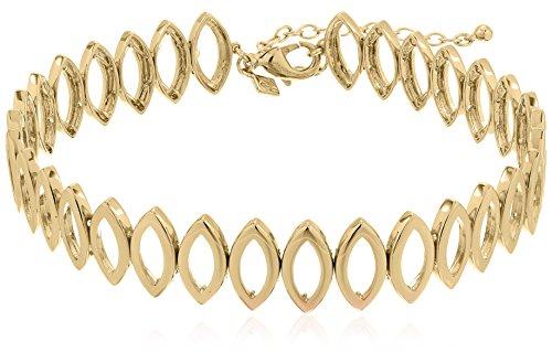 Rebecca Minkoff Navette Metal Gold Choker Necklace