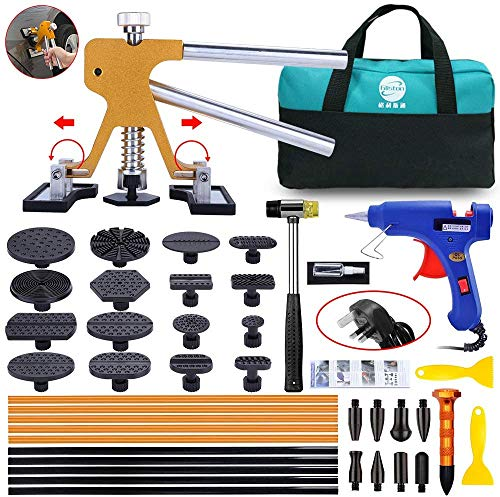 Paintless Dent Puller – Golden Dent Puller Kit, 43pcs Dent Remover Tools...
