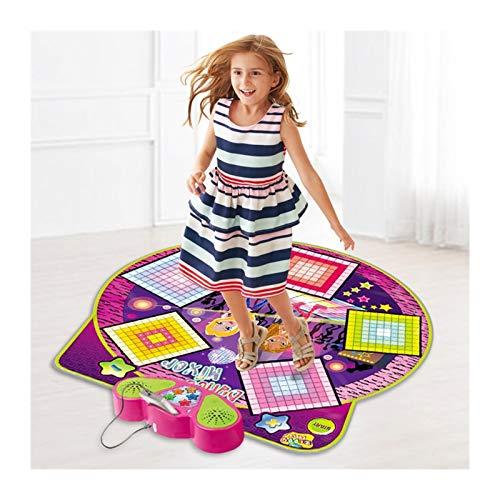 SXGKY Juego de la música Pad Baile Manta Muchacha del niño del Regalo de cumpleaños del Juguete del bebé Juegos Dancing Blanket FFFF (Color : Purple)