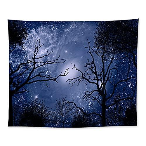 YDyun Tapiz El Tapiz Tapices para Colgar en la Pared Decoración del hogar Manta de Pared de impresión Digital de Cielo Estrellado de Bosque denso /