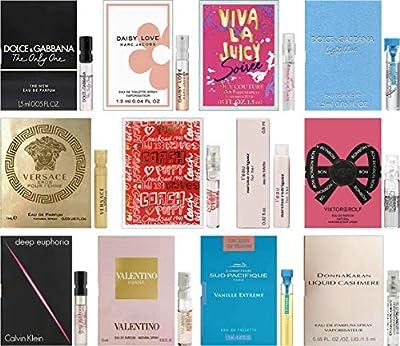 Women's Perfume Sampler Lot x 12 Sample Vials - High End Desginer Fragrance Samples