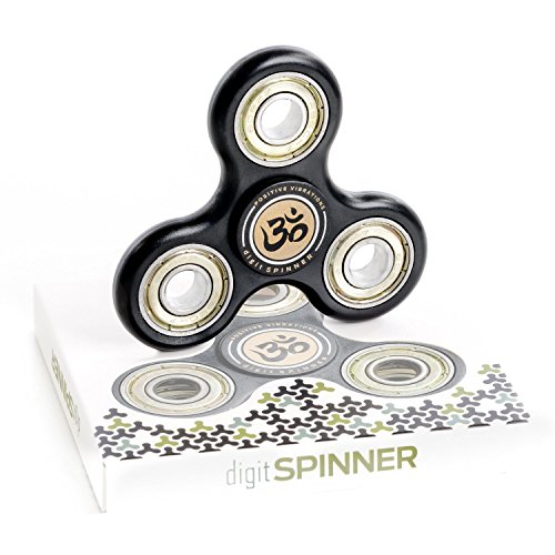 digitSPINNER Fidget Spinner Spielzeug mit verlängerter Drehzeit - Hand Finger Spinner für Kinder und Erwachsene