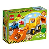 LEGO Duplo Town - Pala Mixta, Set de Construcción de Tractor de Juguete con...