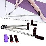TABODD Portable 3 Bar Leg Stretcher, Heavy Duty Flexibility Stretching Machine Martial Arts Stretch Yoga Gym 3 Bar with 9 Holes 180 Degree Adjustable Stainless Steel