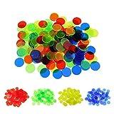 TOYANDONA 200 Stücke Spielchips Plastechips Transparente Zähler Kunststoff Bingo Chips für Bingospiel Zählen und Spielmarken -
