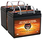 QTY2 VMAX857 AGM Deep Cycle Group U1 Battery Replacement Compatible with Hoveround MPV5 12V 35Ah Wheelchair Battery