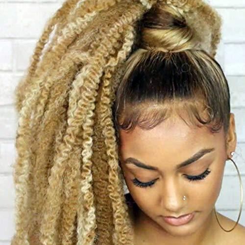 Marley Hair Cuban Twists Hair 18 Inch 3 Packs Afro kinky Twist Crochet Hair Marley Twists for Faux Locs Braiding Synthetic Hair(27#)