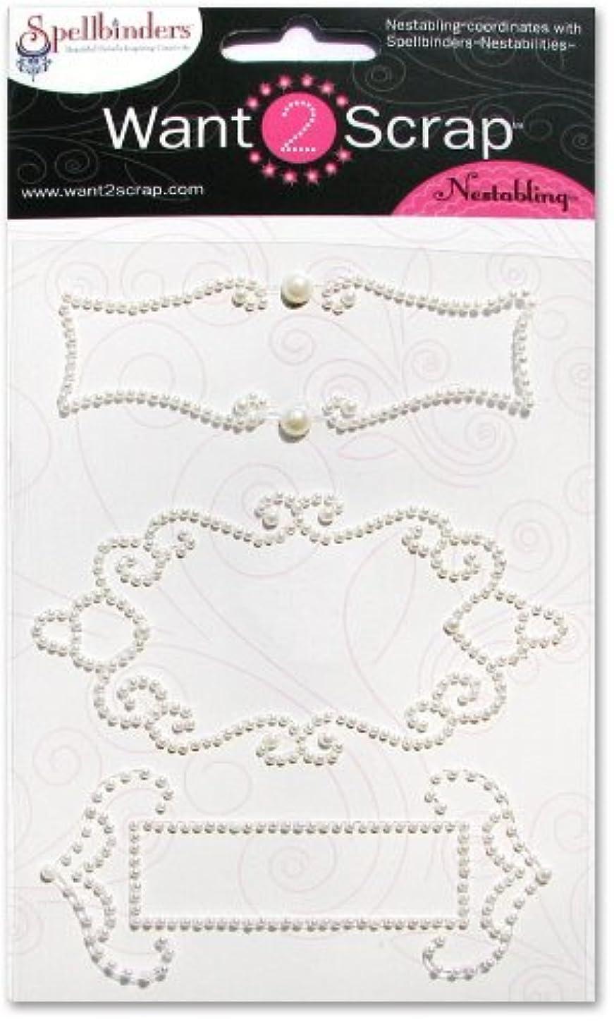 Want2Scrap Nestabling Fancy Tags Two White Pearls
