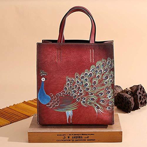 Warm Home handtas voor vrouwen met dieren van leer 265 x 29 x 12 cm Femine Mooi