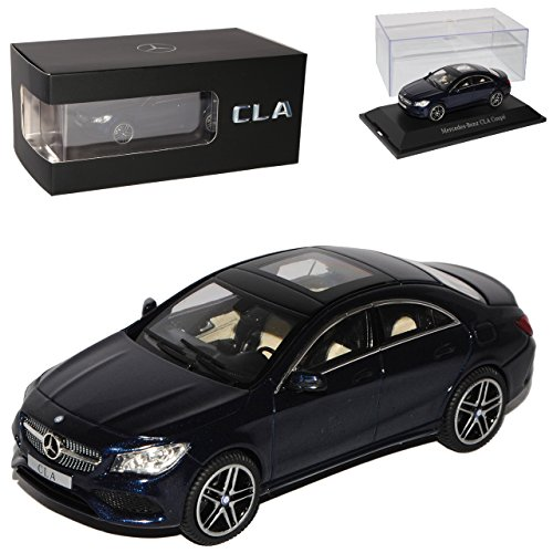 Kyosho Mercedes-Benz CLA Limousine Cavansit Blau Schwarz Modell Ab 2013 Ab Facelift 2016 1/43 iScale Modell Auto