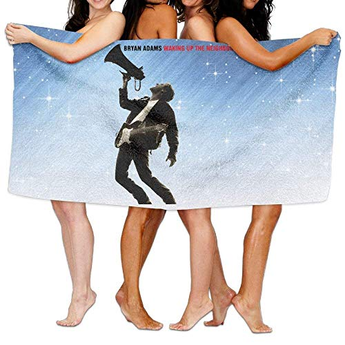 FSTGF Bryan Adams Waking Up The Neighbours Toalla de baño Vibrant Beach/Bath/Pool Toalla 51.2