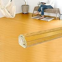 ウッドカーペット 6畳用 本間6畳用 約285×380cm [ナチュラル色] [TU-90シリーズ] [抗菌加工 天然木使用(レッドオーク)] [3色展開] DIY フローリング 木目 簡単 敷くだけ シート セルフリフォーム 低ホルマリン [並行輸入品]