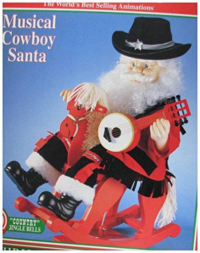 Motionettes Telco Animated Musical Santa on Rocking Horse Christmas Figure