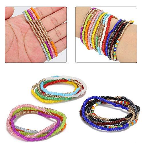 15pcs braccialetto colorato a più strati, bracciali con perline in lega per donne braccialetto perline gioielli accessori regalo braccialetto spiaggia link braccialetto per donne ragazze