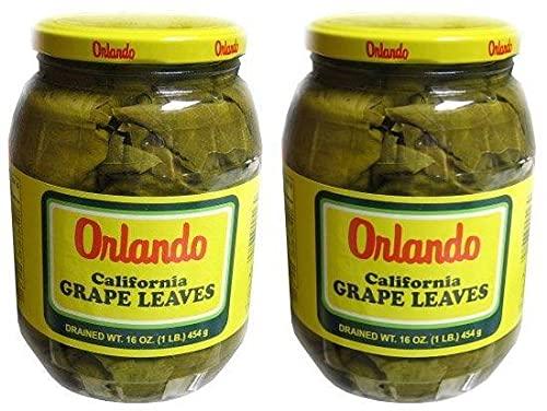 Orlando - California Grape Leaves 2 Jars Cheap Pack Popular of 16 oz.