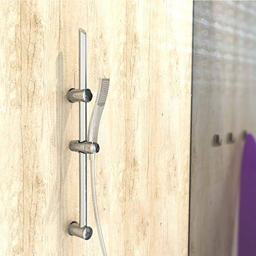 EISL DXZ-08 Signo - Barra de pared con soporte de pared (70 cm, acero inoxidable cromado)