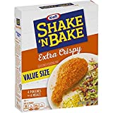 One 10 oz. box of Kraft Shake 'N Bake Extra Crispy Seasoned Coating Mix Kraft Shake 'N Bake Extra Crispy Seasoned Coating Mix creates crispy chicken without frying Add classic savory flavor to your chicken with perfectly seasoned coating mix Ideal fo...