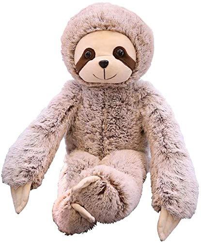 Kawaii Sloth Lifelike Fluffy Animal Animal Suave Peluche Toys 50cm, Muñecas Rellenas Regalos De Cumpleaños Muñecas De Bebé Juguetes