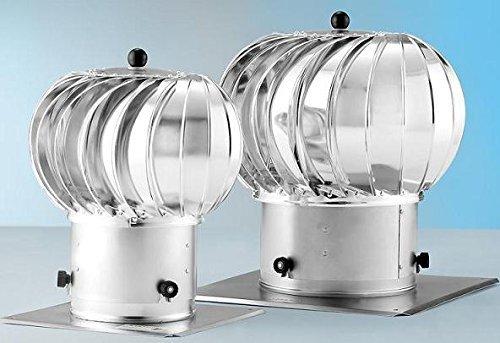 Unbekannt Turbo Kaminaufsatz Lüftungsaufsatz drehbarer Schornsteinaufsatz Kugelaufsatz 150 und 200 mm (200mm)