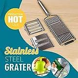 Multi-Purpose Vegetable Slicer,3 Interchangeable Stainless Steel Blades Cut, Peel, Slice Grate & Julienne Slicer