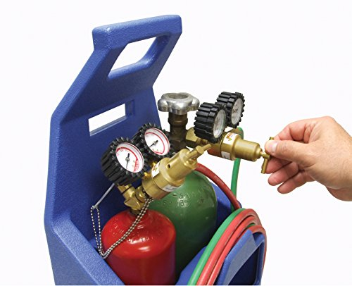 Ameriflame T100AT Medium Duty Portable Welding/Brazing Outfit with Plastic Carrying Stand Plus Oxygen & Acetylene Tanks