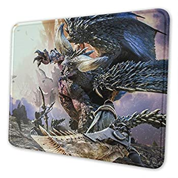 Monster Hunter Mouse Pad with Stitched Edge Premium-Textured Mouse Mat Non-Slip Rubber Base Rectangle Gaming Mousepad for Laptop Computer Office & Home  10 X 12 X 0.12 in