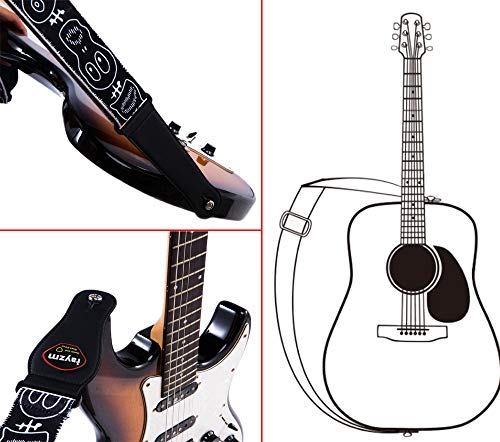 Rayzm Guitar Strap//Bass Strap Cotton Belt for Acoustic//Electric//Bass Guitar /&