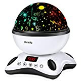 Moredig Night Light Projector Remote Control and Timer Design Projection lamp, Built-in 12 Light Songs 360 Degree...