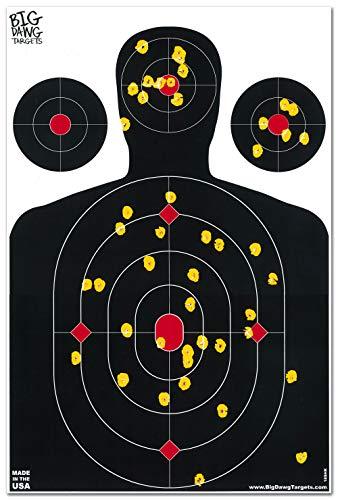 Big Dawg Targets 25 Pack - 12 X 18 Inch Silhouette Reactive Splatter Shooting Target