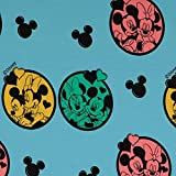 Loopomio Jersey Stoffe Disney Micky Maus Minnie Ohren blau