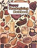 Photo Gallery happy thanksgiving notebook: blank lined journal for basset hound, dog lovers, dog mom, dog dad and pet owners   8.5x11 with college ruled pages   doodle thanksgiving  
