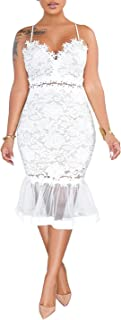Women Sexy Floral Lace Mesh Sheer Hollow Out Deep V Neck...