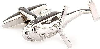 MRCUFF Helicopter 3D Pair Cufflinks in a Presentation Gift Box & Polishing Cloth