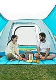 HIZLJJ Außenteppich Picknickmatte Innenteppich Außenteppich Terrassenteppiche Einzelne Picknickmatte Ei durch Falten Feuchtigkeitsauflage für Picknicks, Strände, Wohnmobile und Ausflüge, wetterfest un - 2