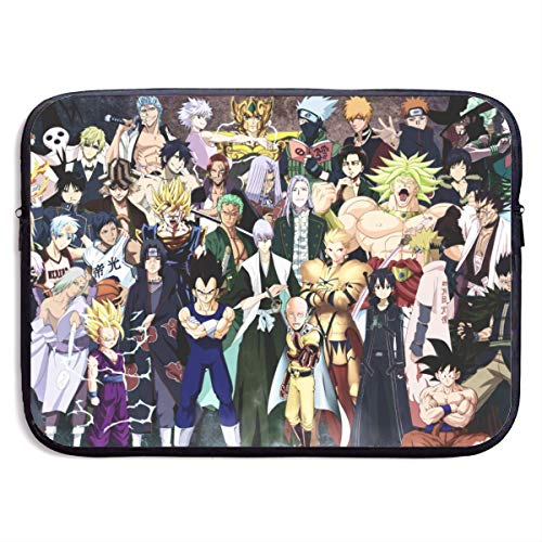 Hdadwy Anime Crossover Laptop Hülle Tasche 15 Zoll Computer Case Tablet Aktentasche Ultra Portable Protective