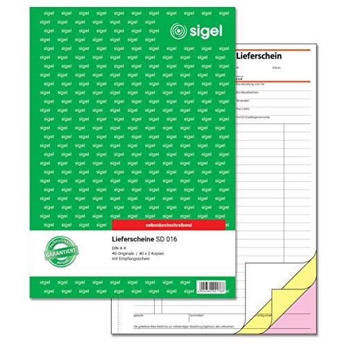 Sigel SD016 - Bloc de recambio A4